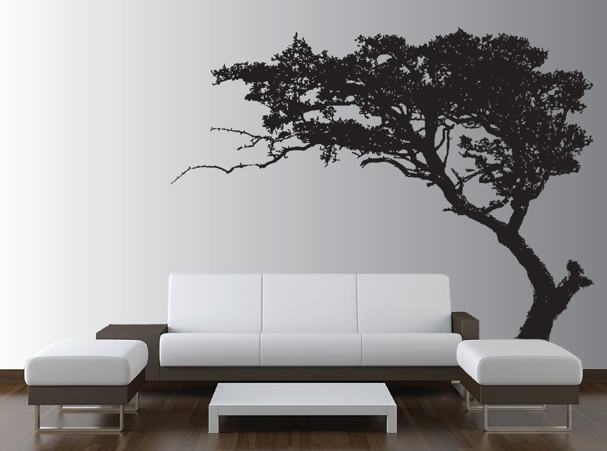 large wall tree decal forest decor vinyl sticker highly. Black Bedroom Furniture Sets. Home Design Ideas