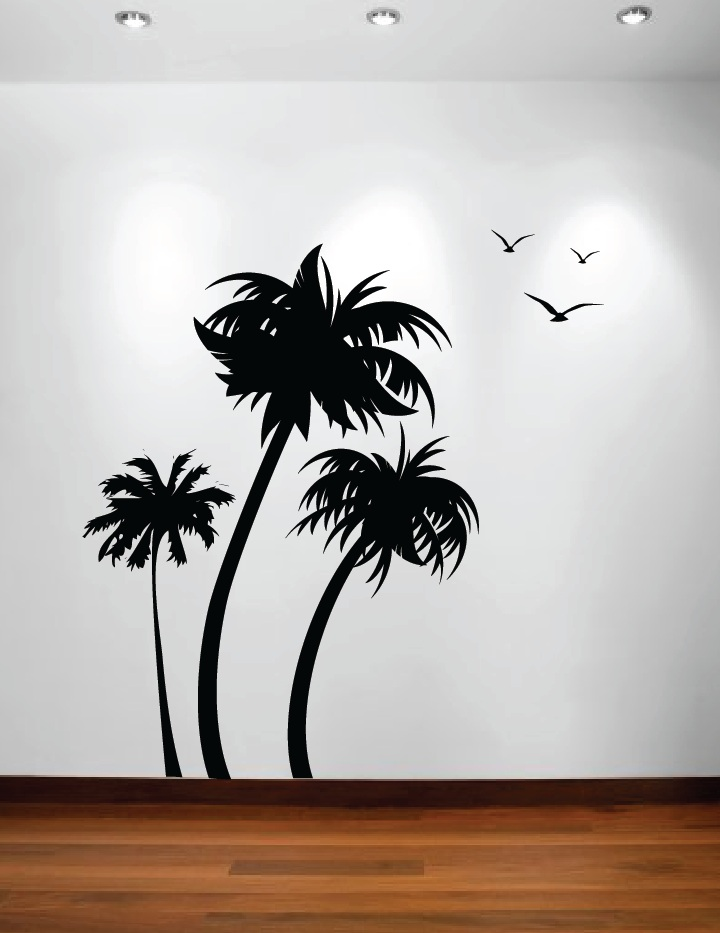 Wall decal palm tree